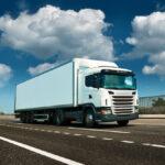 Ciężarówka na drodze - pobranie opłaty drogowej w niemczech